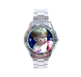 Stainless Steel Analogue Photo Watch